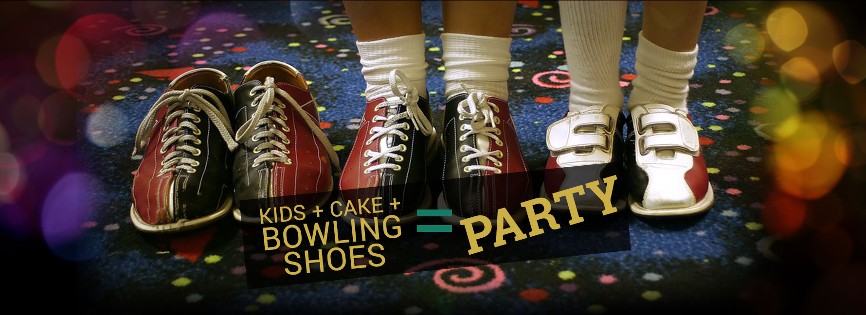 Kids + Cake + Bowling Shoes = Party
